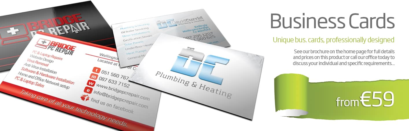 business card printing and design wexford - Diskin Design