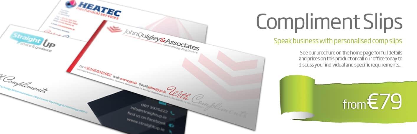 compliment slips design - diskin design