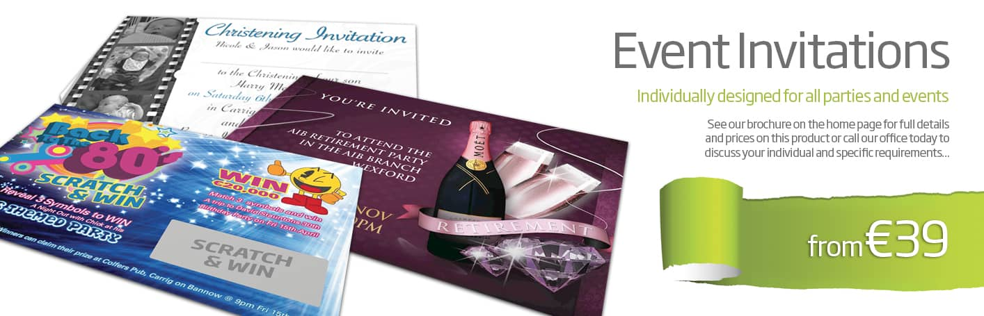 invitation design and printing Wexford - Diskin Design