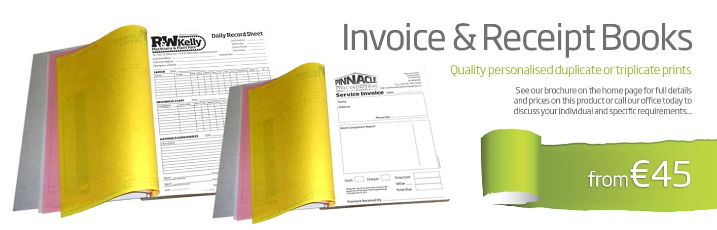 invoice book design wexford